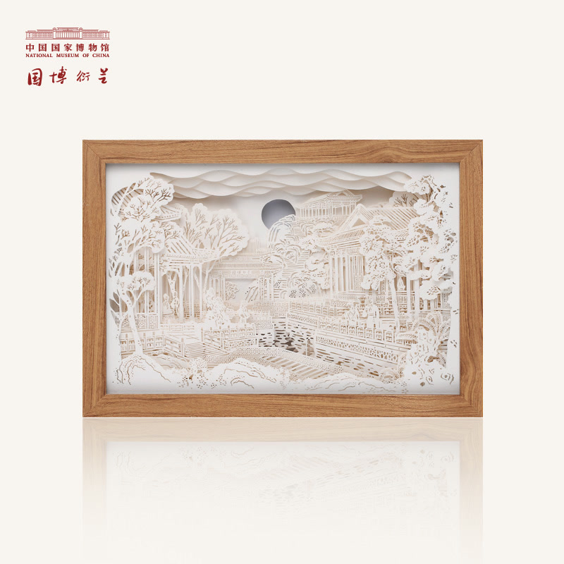 中国国家博物馆 大观园手工剪纸纸雕灯