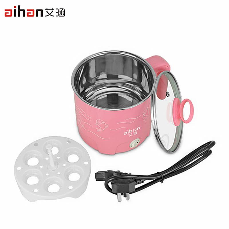 aihan 韩式多功能电热锅 家用电火锅 学生不锈钢煮面电锅